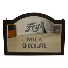 Edwardian Fry's Chocolate Advertising Mirror