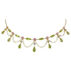 Edwardian Gem-Set Necklace