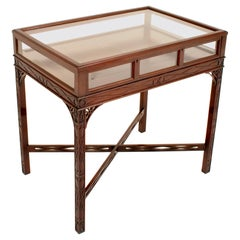 Edwardian George III Chinese Chippendale Style Bijouterie Table/Vitrine