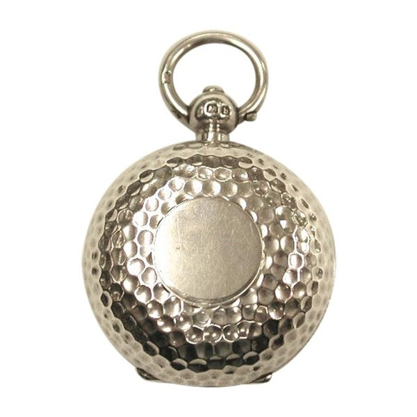 Edwardian Hammered Silver Sovereign Case, 1901, Alfred Wigley, Birmingham