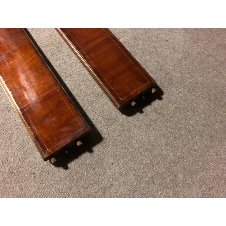 Contemporary Edwardian Hand Painted and Caned Wood Twin Bed Frame For Sale