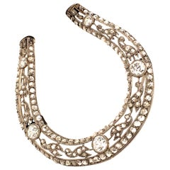 Edwardian Horseshoe Diamond Brooch in Platinum