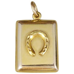 Edwardian Horseshoe Locket in 15 Carat Yellow Gold