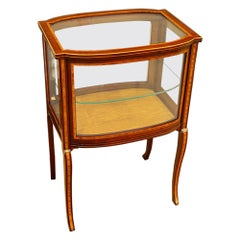 Edwardian Inlaid Curio Display Cabinet