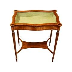 Edwardian Inlaid Curio Table