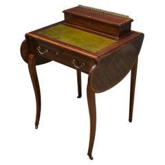 Edwardian Inlaid Mahogany Antique Writing Table