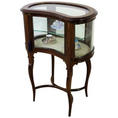 Edwardian Inlaid Mahogany Bijouterie Display Table