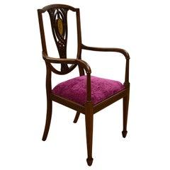 Edwardian Inlaid Mahogany Chair