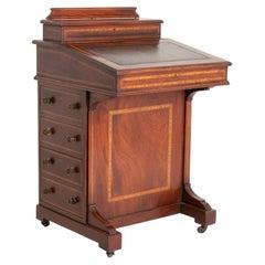 Edwardian Inlaid Mahogany Davenport Desk, c.1910