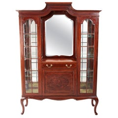 Edwardian Inlaid Mahogany Display Cabinet by Maple & Co.