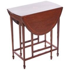 Edwardian Inlaid Mahogany Drop-Leaf Table
