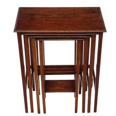 Edwardian Inlaid Mahogany Nest of 4 Side Tables