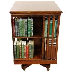 Edwardian Iron Based Revolving Bookcase