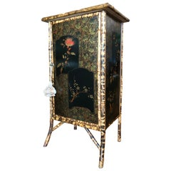 Edwardian Japanned Bamboo Side Cabinet