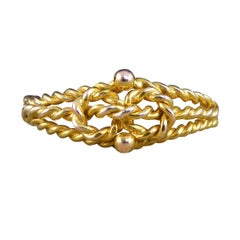 Edwardian Love Knot Ring Crafted in 9ct Yellow Gold