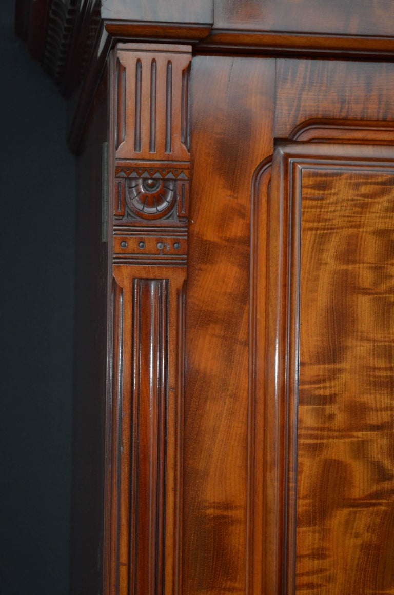 Edwardian Mahogany 3-Door Wardrobe For Sale 5