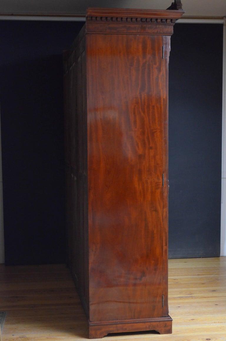 Edwardian Mahogany 3-Door Wardrobe For Sale 15