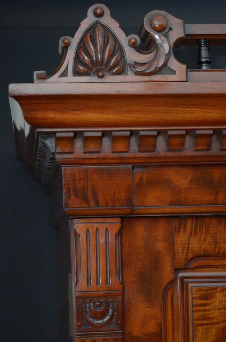 Edwardian Mahogany 3-Door Wardrobe For Sale 2