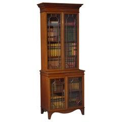Edwardian Mahogany and Inlaid Bookcase