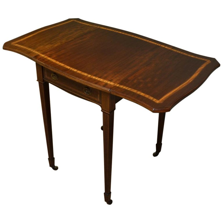 brand new 7a341 f41f9 Edwardian Mahogany Antique Drop-Leaf Side Table