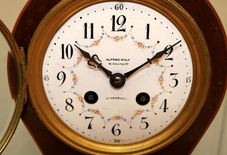 Edwardian Mahogany Balloon Clock In Good Condition For Sale In Beaconsfield, GB