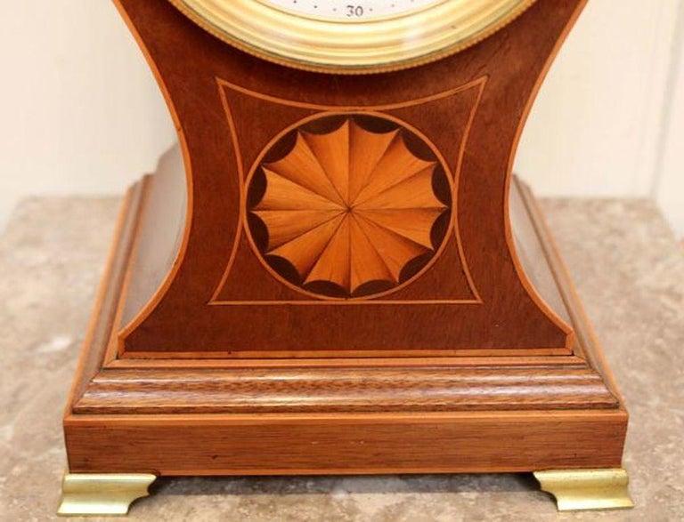 20th Century Edwardian Mahogany Balloon Clock For Sale