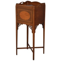 Edwardian Mahogany Bedside Cabinet, Pot Cupboard