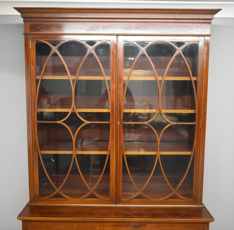 Edwardian Mahogany Bookcase For Sale At 1stdibs