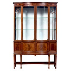 Edwardian Mahogany Bow Front Display Cabinet