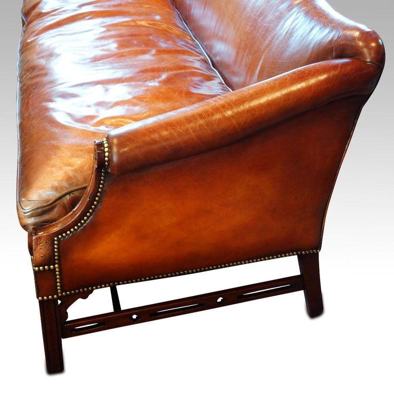 Edwardian Mahogany Camel Back Sofa For Sale 4