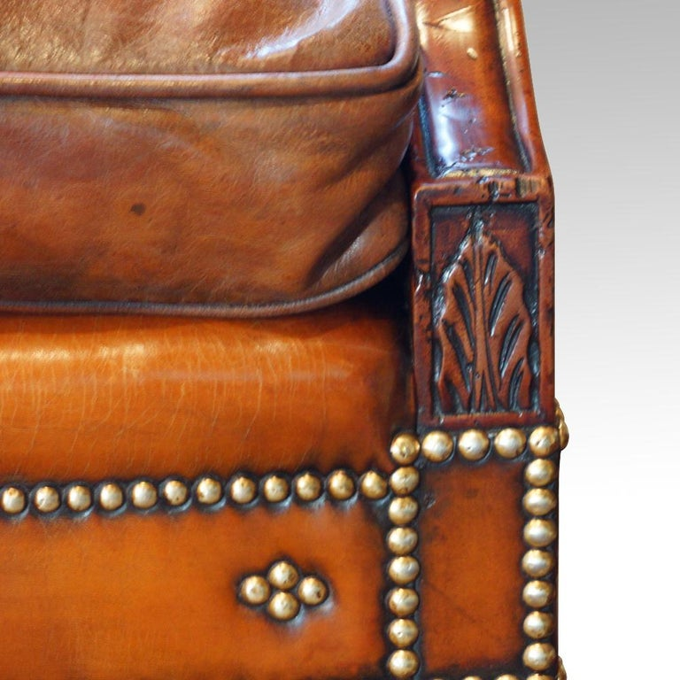 Edwardian Mahogany Camel Back Sofa For Sale 6