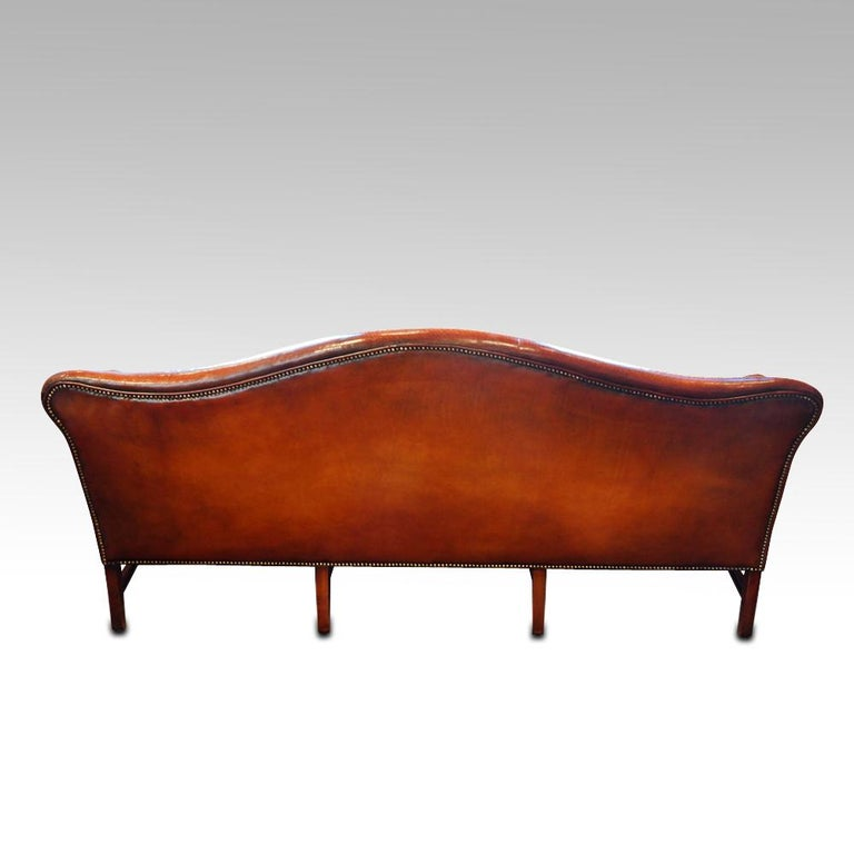 Edwardian Mahogany Camel Back Sofa For Sale 9