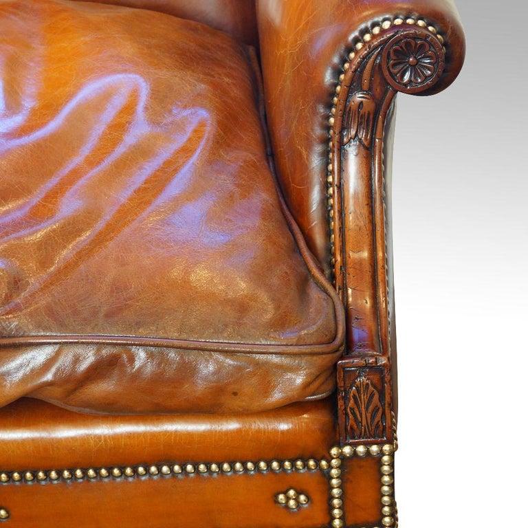 Edwardian Mahogany Camel Back Sofa For Sale 10