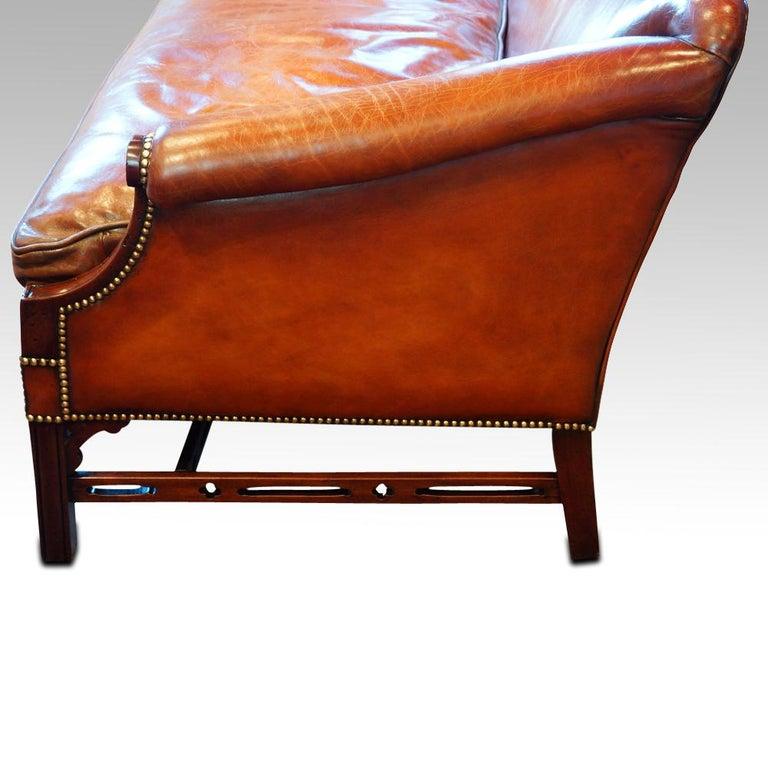 Edwardian Mahogany Camel Back Sofa For Sale 11