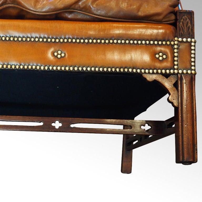 Edwardian Mahogany Camel Back Sofa For Sale 13