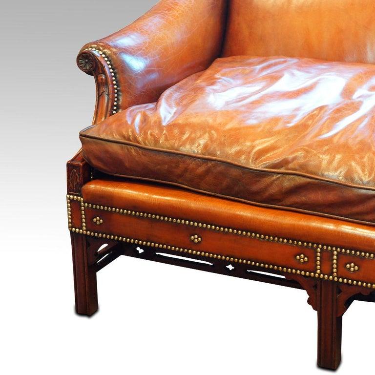 Edwardian Mahogany Camel Back Sofa For Sale 14