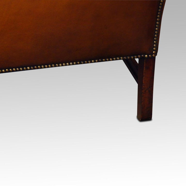 English Edwardian Mahogany Camel Back Sofa For Sale