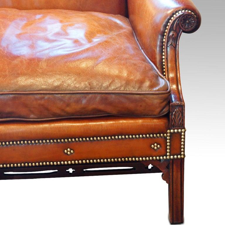 Edwardian Mahogany Camel Back Sofa For Sale 1