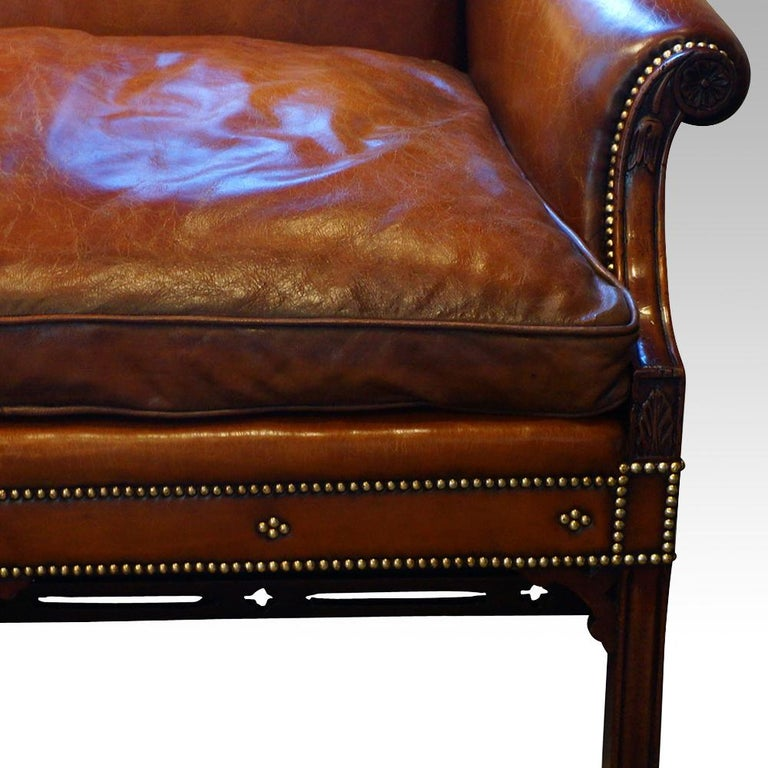 Edwardian Mahogany Camel Back Sofa For Sale 3