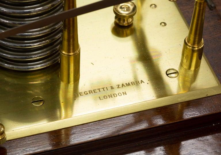 English Edwardian Mahogany Cased Barograph by Negretti & Zambra, London For Sale