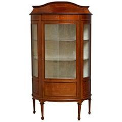 Edwardian Mahogany Display Cabinet, Vitrine