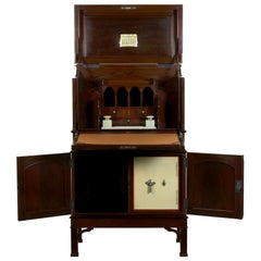 Edwardian Mahogany Fall-Front Secretary Desk with Built in Safe, circa 1900