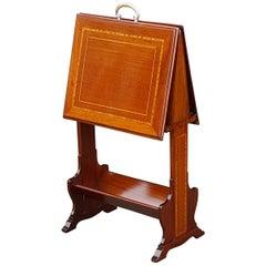 Edwardian Mahogany Folio Stand