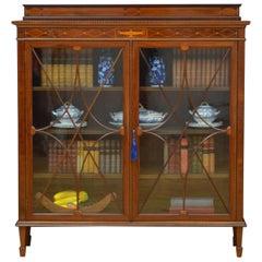 Edwardian Mahogany Glazed Bookcase