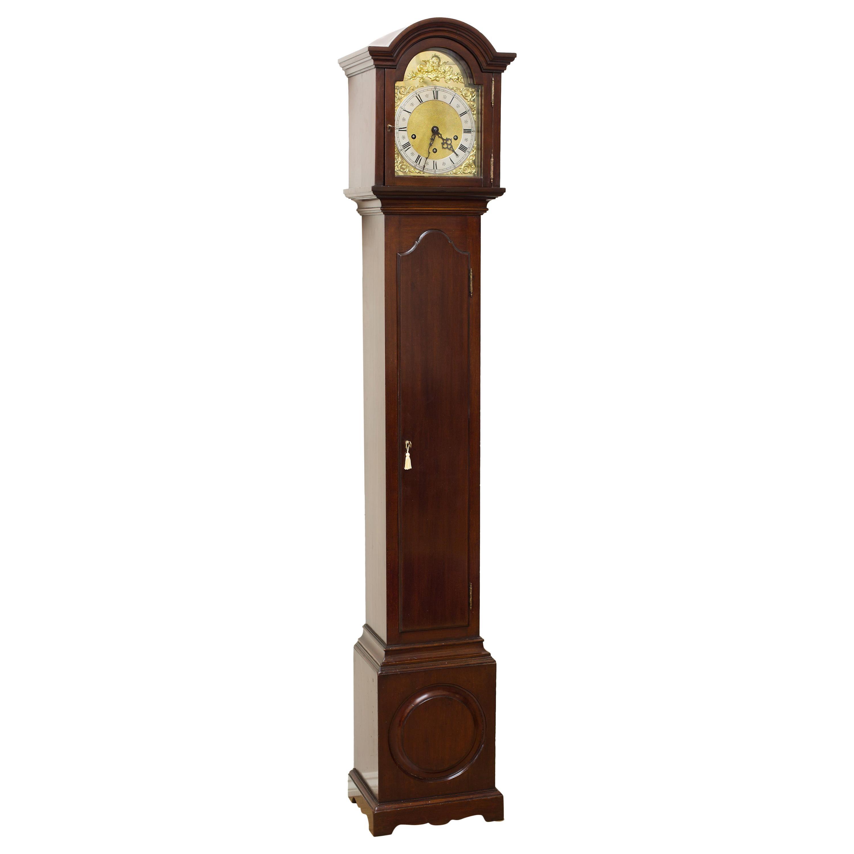 Edwardian Mahogany Grandmother Clock