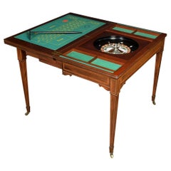 Edwardian Mahogany Inlaid Roulette Games Table