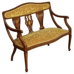 Edwardian Mahogany Inlaid Sofa