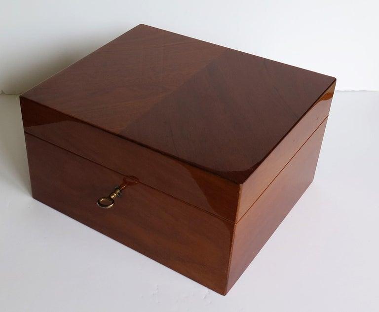 Edwardian Mahogany Lidded Box with Lock and Key Fine Quality, circa 1910 For Sale 3