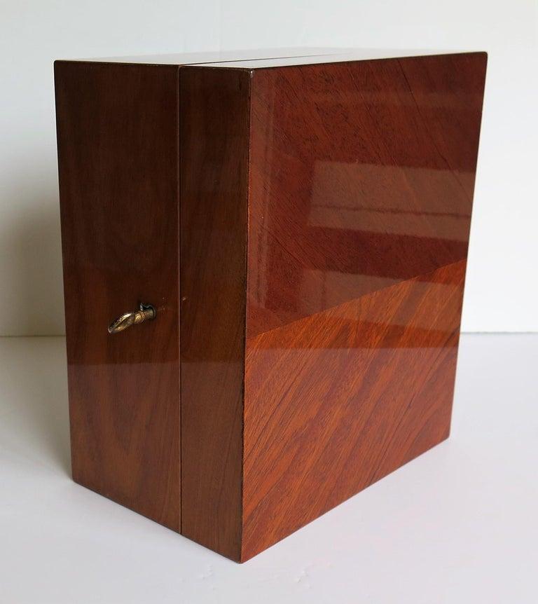 Edwardian Mahogany Lidded Box with Lock and Key Fine Quality, circa 1910 For Sale 4