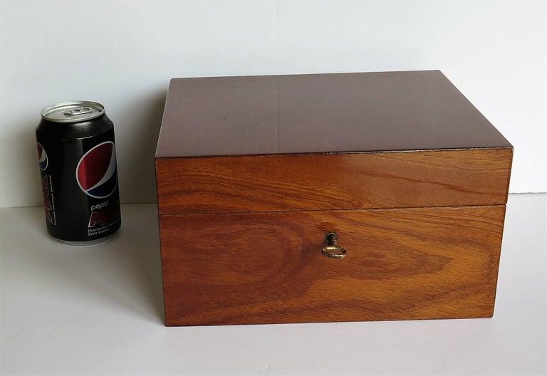 Edwardian Mahogany Lidded Box with Lock and Key Fine Quality, circa 1910 For Sale 13